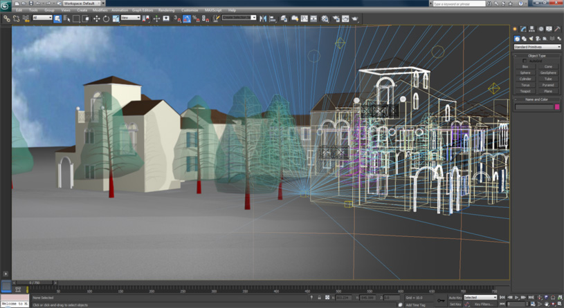 Screen capture of the modeling environment